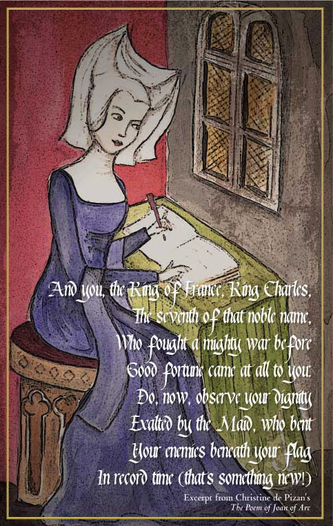 essays on christine de pizan The book of the city of ladies essay through the use of real historical examples, christine de pizan's, the book of the city of ladies.